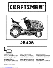 Craftsman 25428 Instruction Manual