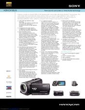 sony hdr cx100 b manuals rh manualslib com sony exmor handycam hdr-cx100 manual Sony Camcorder
