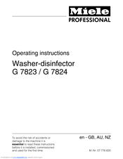 Miele G 7823 Operating Instructions Manual