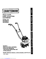 craftsman 536 292510 owner s manual pdf download rh manualslib com Craftsman Lawn Mower Manual PDF craftsman cultivator attachment manual