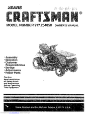 Craftsman lt 4000 Owner's Manual