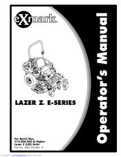 EXMARK LAZER Z E-SERIES OPERATOR'S MANUAL Pdf Download