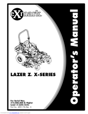 Exmark Lazer Z X Series Operator S Manual Pdf Download Manualslib
