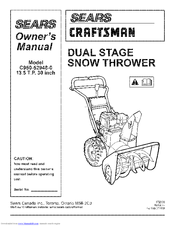 craftsman c950 52948 0 owner s manual pdf download rh manualslib com craftsman snowblower owners manual free craftsman snowblower 179cc owners manual