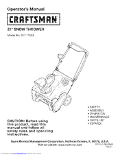 Craftsman 247.11683 Operator's Manual