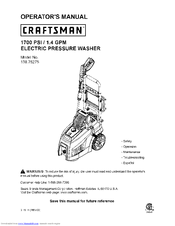 Craftsman 138.75275 Operator's Manual