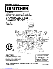 Craftsman 152.21152 Owner's Manual