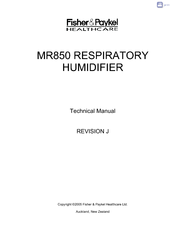 Service manual for fisher _paykel_humidifiers_mr_850 fisher paykel.