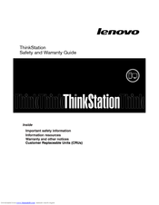 Lenovo ThinkStation 4217 Safety And Warranty Manual