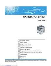 ricoh aficio sp 3410sf manuals rh manualslib com ricoh sp 150 manual ricoh sp213w manual