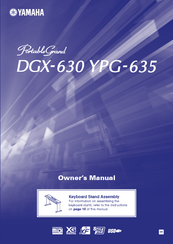 Yamaha YPG635MM Owner's Manual