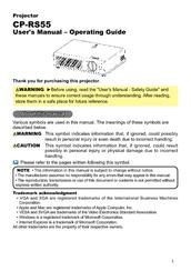hitachi performa cp rs55 manuals rh manualslib com hitachi cp-rs55 specs hitachi cp-rs55 multimedia lcd projector manual