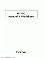Brother BE-100 Workbook