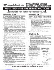 Frigidaire PL30DD Instructions Manual