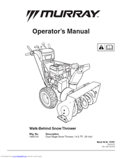 murray dual stage snow thrower manuals rh manualslib com murray snowblower manual 24579 murray snowblower manual for 629118x0a