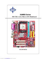 MSI K8MM3 AUDIO DRIVER UPDATE