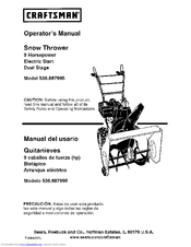 Craftsman 536.887995 Operator's Manual