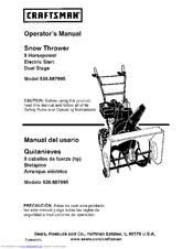 Craftsman 536.887995 Operator's Manual