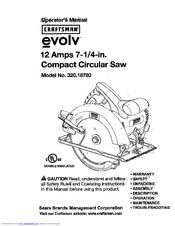Craftsman evolv 320.18780 Operator's Manual