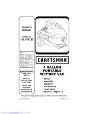 Craftsman 113.176120 Owner's Manual