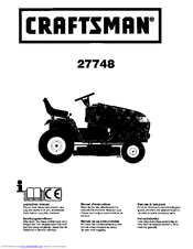 Craftsman 27748 Instruction Manual