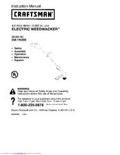 craftsman weedwacker 358 745300 manuals rh manualslib com Craftsman Weedwacker Manual Online Craftsman Electric Weedwacker Manual