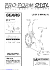 PROFORM SEARS 915L User's Manual