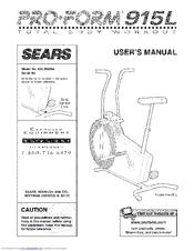 PROFORM SEARS 915L User Manual