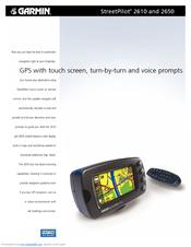 garmin streetpilot 2610 features pdf download rh manualslib com Garmin Manuals Nuvi 275 garmin streetpilot 2610 manual