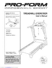proform crosswalk sport manuals rh manualslib com Proform Lm Crosswalk Treadmill Manual proform 400 crosswalk sport treadmill price