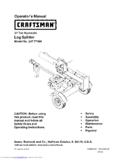 Craftsman 247.77466 Operator's Manual