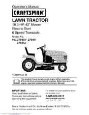 Craftsman 917.276411 Operator's Manual