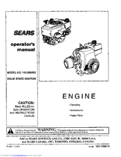 Craftsman 143.998003 Operator's Manual