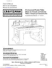 Craftsman 171.61181 Owner's Information Manual