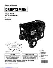 CRAFTSMAN 580 325600 OWNER'S MANUAL Pdf Download