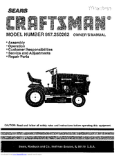 craftsman 917 250262 owner s manual pdf download