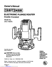 craftsman router 315.174 manual