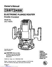 craftsman router 315.174 manual