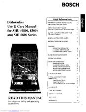 bosch shu5300 use care manual pdf download rh manualslib com bosch dishwasher use care manual Bosch Dishwasher Manual PDF