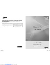 Samsung PN58B650 User Manual