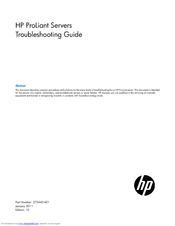 HP ProLiant DL388 Troubleshooting Manual