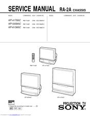 sony kp 41t65c service manual pdf download rh manualslib com Sony DVD Recorder User Manual Sony Trinitron TV Manual