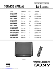 sony trinitron kv 27v45 manuals rh manualslib com Sony Wega TV Manual Sony TV Parts Manual