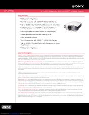 sony vplvw40 sxrd projector hd 1080p manuals rh manualslib com sony 4k sxrd projector review sony bravia sxrd projector manual