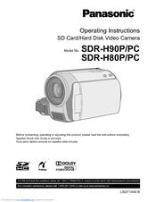 Panasonic sdr-h80-s sd and hdd camcorder manual.