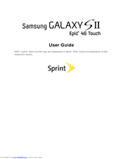 Samsung Galaxy S II Epic 4G Touch User Manual