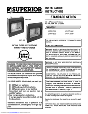Superior UVFR-500 Installation Instructions Manual