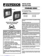 Superior UVFR-500 Installation Instructions Manual