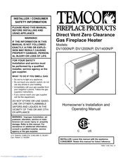 Temco fireplace parts products replacement manual.
