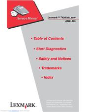 lexmark t420 n laser printer service repair manual